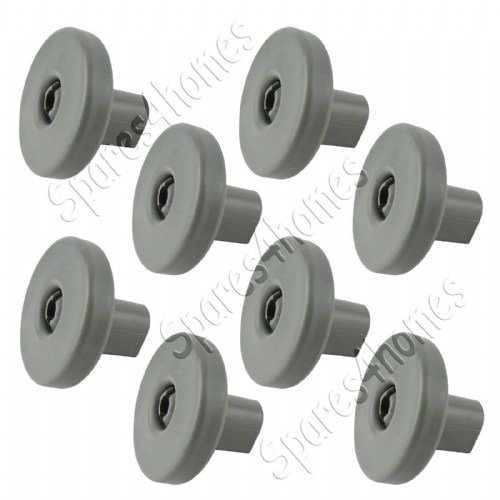 8 x GENUINE Dishwasher Lower / Bottom Basket Grey Wheels AEG, Electrolux Zanussi
